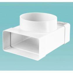 Тройник 110*55 / Ø100 для плоских и круглых каналов