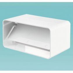 Соединитель 110*55 с клапаном для плоских каналов