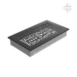 Металлическая Вентиляционная Решетка 17Х30 Черная ABC