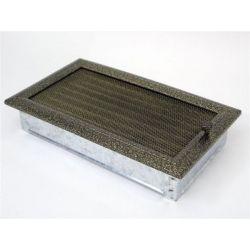 Металлическая Вентиляционная Решетка 17Х30 Черная латунь с жалюзи